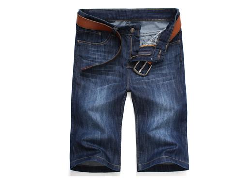夏季薄青少年牛仔裤男牛仔短裤