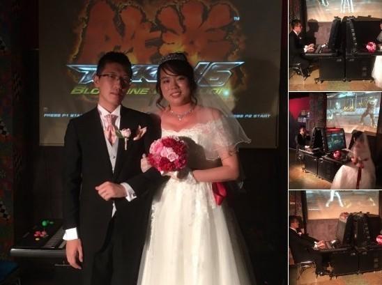 日本男女在街机厅办婚礼 新人上演游戏PK