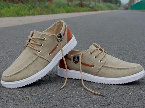 夏季帆布透气一脚蹬男鞋 运动板鞋