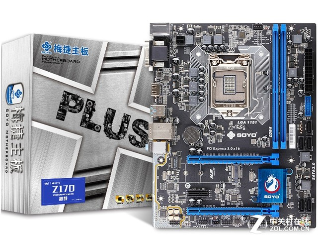 超频中板 梅捷Z170D4W+魔声版售549元