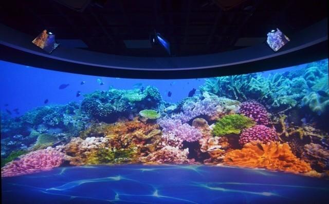 探访索尼沉浸式双曲面大屏幕显示系统