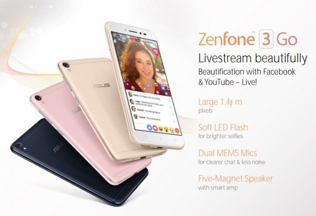 曝华硕Zenfone 3 Go:千元出头月底首秀