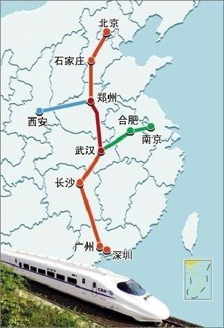 武汉,郑州…北京西…   悉数沿站36个城市的风景,   以每小时320