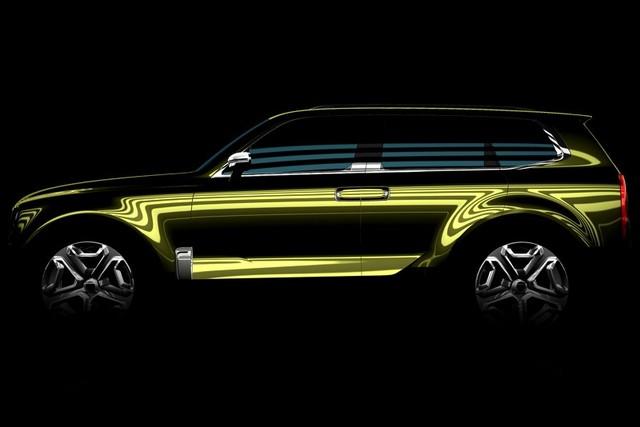 彰显硬派造型 起亚新款SUV预告图发布高清图片