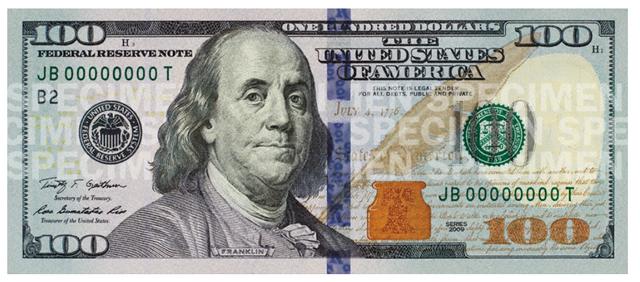 百元钞票简笔画