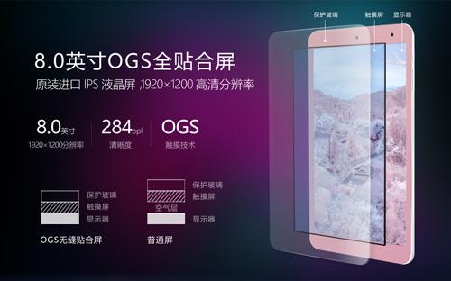 限时购送礼!昂达V80 SE特惠8.0吋OGS全贴合屏
