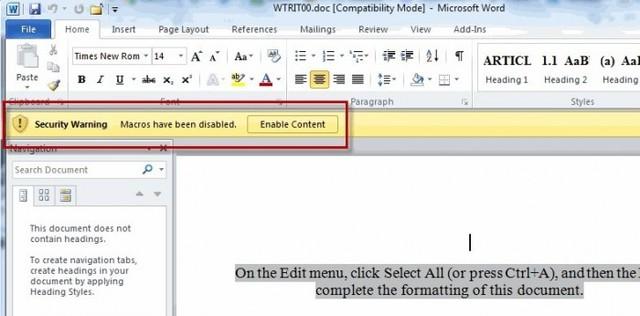 新型恶意Word文档现身网络 可攻击Windows和macOS系统