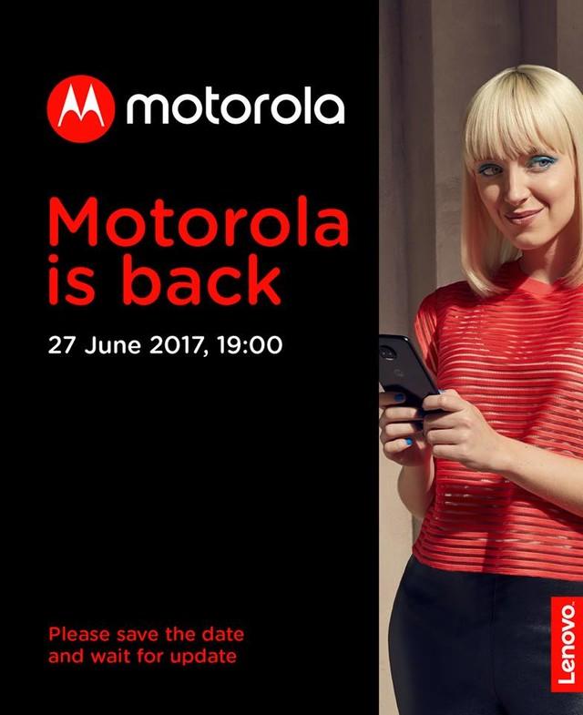 Moto Z2将于6月27日发布 官方海报曝光