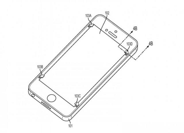 Apple「屏幕保护」iPhone 永不碎屏?   如果你不小心滑手,iPhone 感应到就会启动保护系统,四块薄片就会伸出来。即使不幸正面着地,薄片也能代替屏幕吸收撞击力量,屏幕自然不会损坏。不过 Apple 要将这个系统真正套用到 iPhone 绝不容易。虽然系统本身不算很复杂,最难的是如何能不影响 iPhone 的外观?