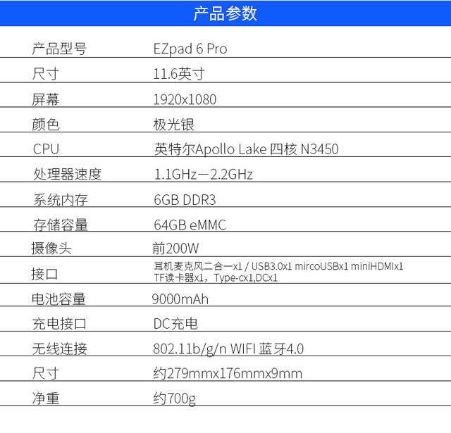围观中柏EZpad 6 Pro上市