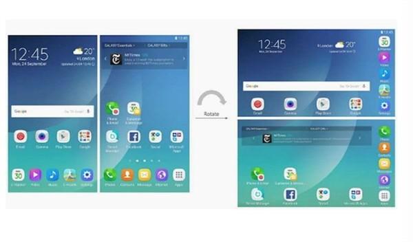 未来!三星可折叠手机Galaxy X界面曝光