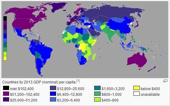 全球人均gdp_人均gdp