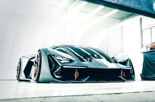 兰博基尼发纯电动Terzo Millennio概念车