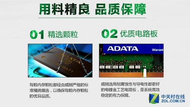 威刚4GB DDR3-1600