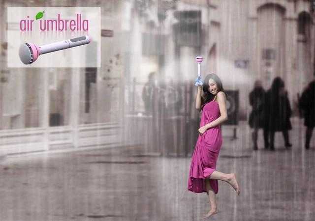 空气雨伞 空气雨伞到底是何方神圣?   有问题,问度娘,笔者查询了百度百科,里面的解释是这样的:空气雨伞,是由中国设计师设计推出的一款概念雨伞。这款概念雨伞采用压缩空气作为遮雨部件。通过调整伞柄的控制按钮,您可以自如控制、调整雨伞的空气伞直径。这样一来,伞的部件便只剩下一支伞柄,不用再为雨天撑伞进入室内,弄湿地板而发愁了。