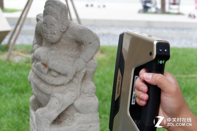 民俗文化焕发新生 3D扫描修复栓马柱