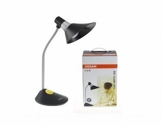银黑时尚设计 欧司朗晶蕾LED台灯169元