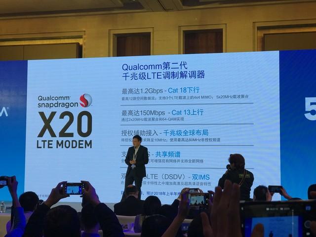 高通发布比骁龙835还快的X20 LTE Modem