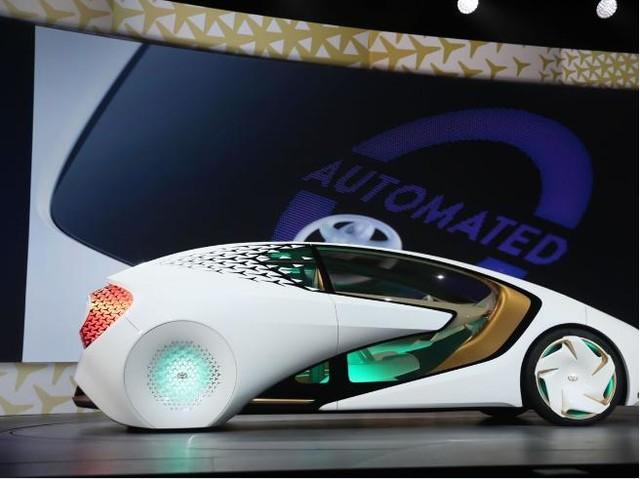 丰田concept-i自动驾驶汽车亮相CES2017