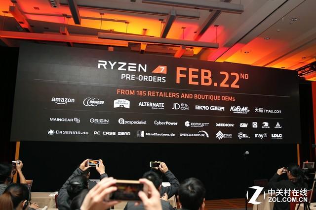 超越对手四成 AMD北美发布Ryzen 7处理器