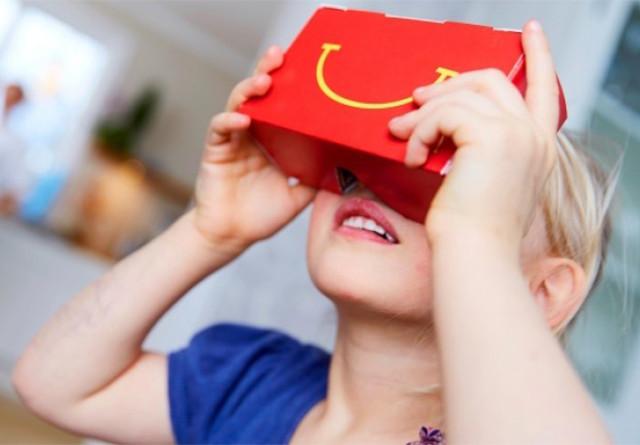 麦当劳跨界推VR眼镜:有炸鸡的味道!