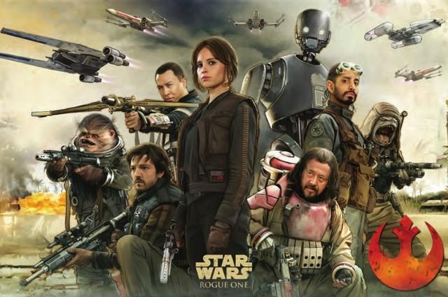 《星球大战外传:侠盗一号》宣传海报
