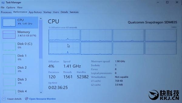 骁龙835 Win10电脑性能爆发:Intel再见