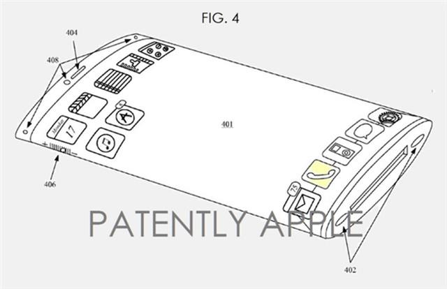 传iPhone7将配曲面屏:专利两年前就申请