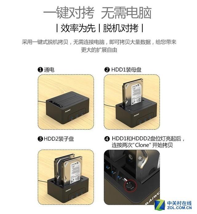 麦沃MAIWO K3082H HUB口硬盘底座