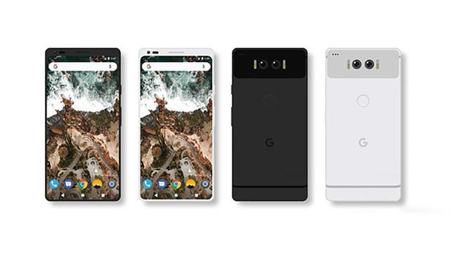 谷歌Pixel 2概念图再曝 全面屏+双摄双闪