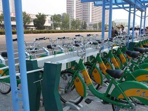朝鲜也推共享单车:有桩、市民凭卡借还