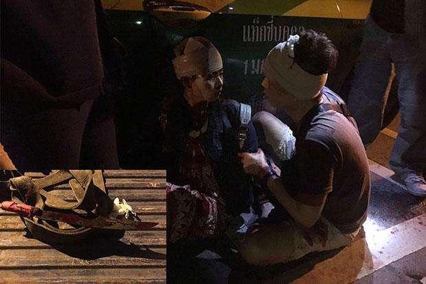中国游客泰国遭砍