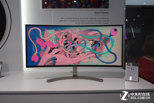LG新品4K显示器亮相CES 屏幕尺寸达38吋