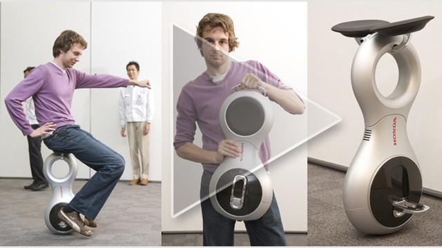 360度旋转平衡:Honda U3-X智能电动车