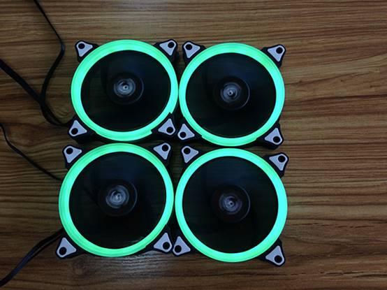 爱国者极光RGB风扇,实物拍摄,光环效果惊艳