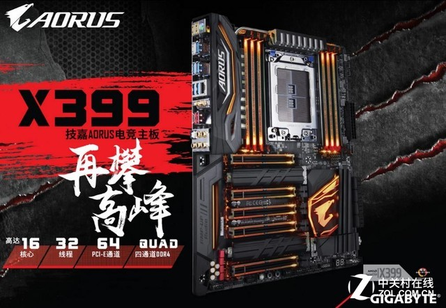 Threadripper坐骑X399 AORUS新品热售中