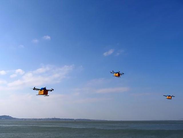 阿里巴巴宣布成功实现跨海无人机配送