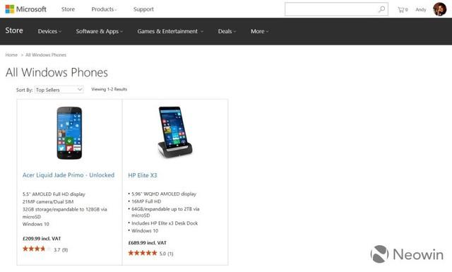 微软英国下架Lumia手机 仅2款Win10手机