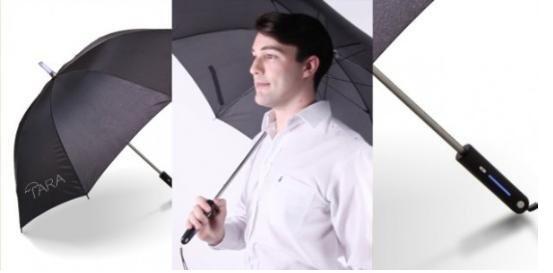 造吗?第一把能报天气的智能雨伞问世
