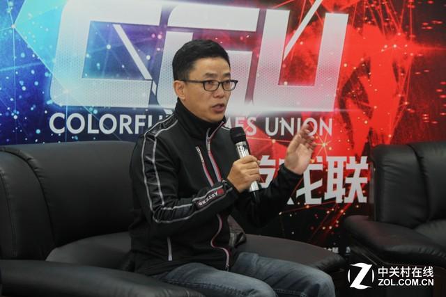 2016CGU现场 专访NV张建中七彩虹万山