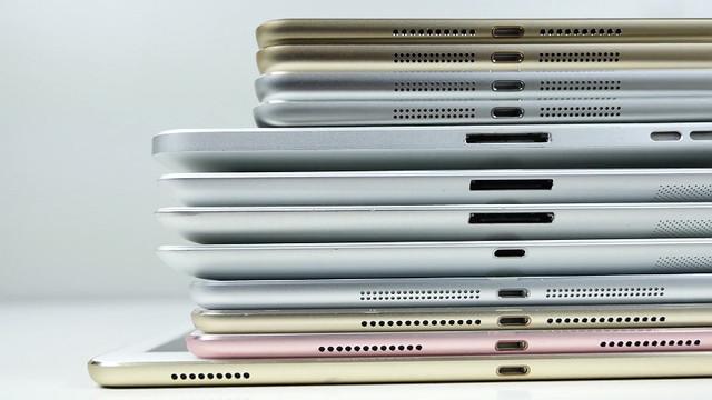 历代iPad有多大不同 平板排排站一次告诉你