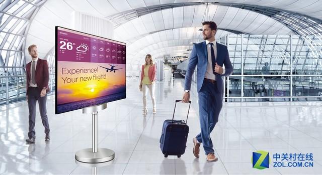 行业首创!双面平面OLED显示器55EH5C