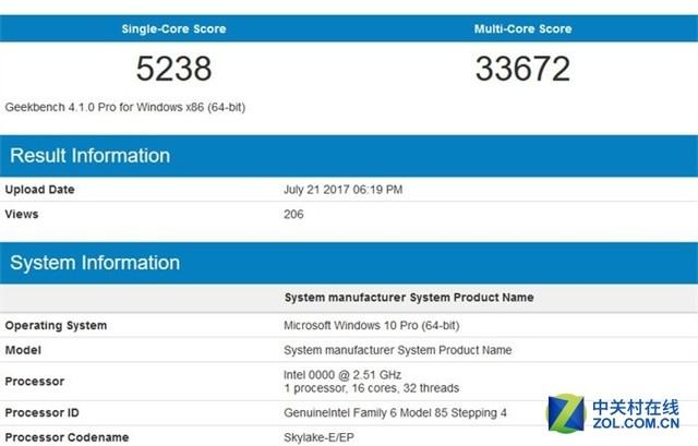 比AMD贵7成 Intel 16核i9-7960X性能曝光
