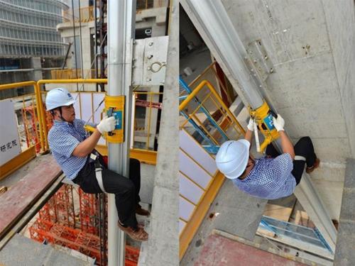 武汉出现高楼逃生黑科技:40米空中垂降只需26秒