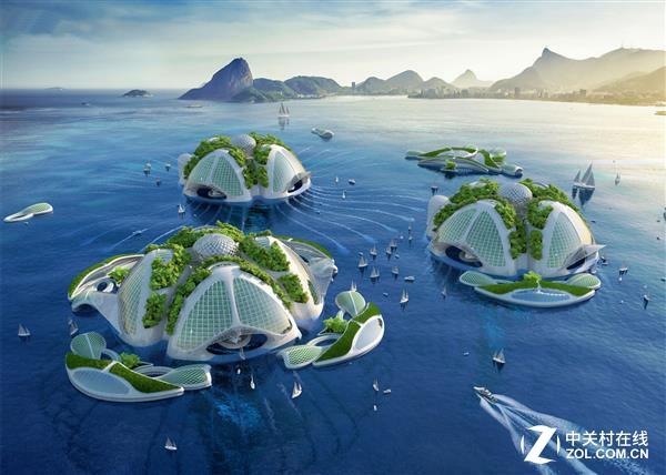 建筑师描绘未来 废塑料3d打印海洋城市