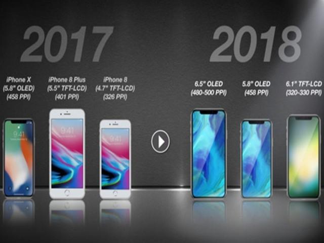 传苹果明年推3款iPhone:iPhoneX Plus亮相