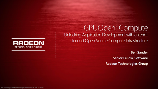 AMD GPUOpen革新:开源、异构计算、Linux