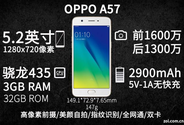 OPPO A57评测 继承旗舰自拍的千元机