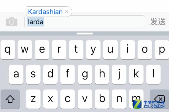 """iOS 9.2诡异自动纠错:larda即""""卡戴珊"""""""