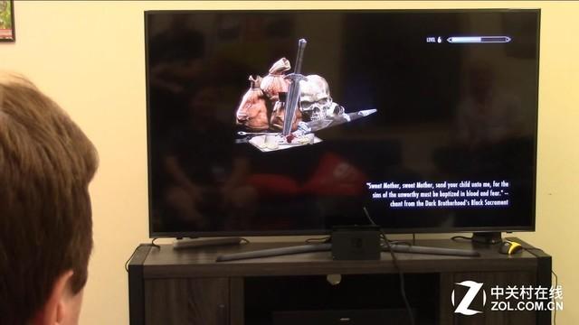 Switch版卷轴5 电视试玩顺畅、爽快